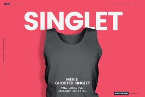 Men's Ghosted Singlet Templates