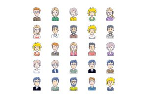 Vector avatars of illustration