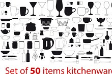 different items kitchenware