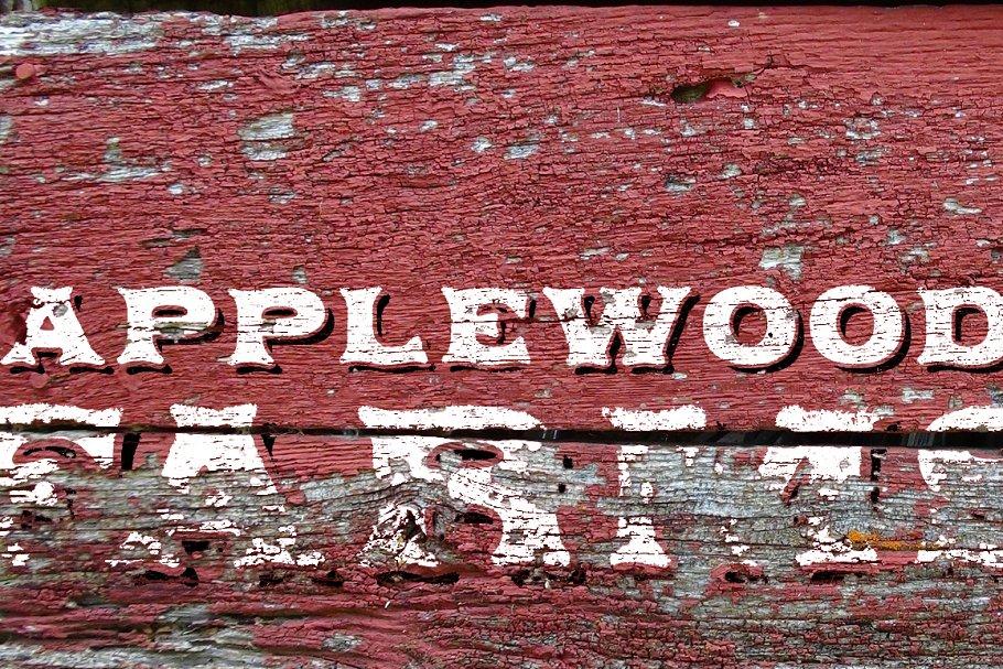Applewood Shadow font