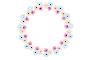 Soft pastel flower wreath. eps jpg