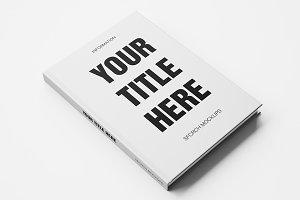 White blank book mockup
