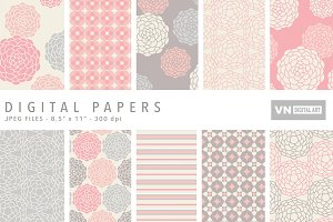 Digital Papers - Round Flower - 435