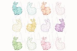 Geometric Wireframe Bunny