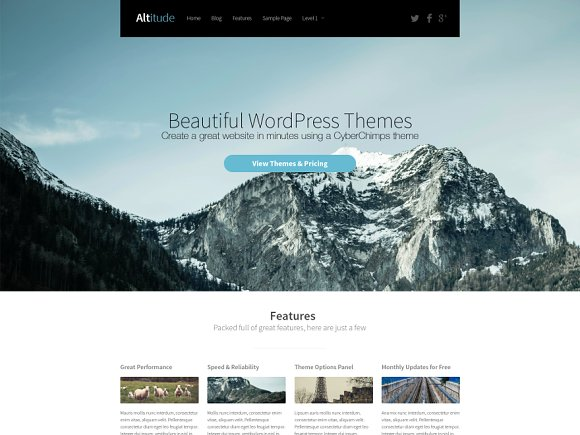 Altitude WordPress Theme WordPress Landing Page Themes - Altitude here