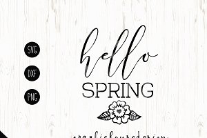 Hello Spring Cutting File