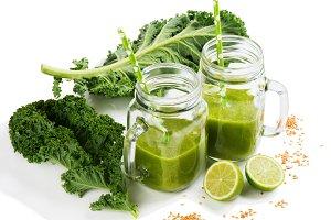 Green vegetable drink with fiber