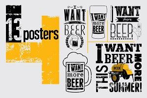 Beer Phrase typographic poster.