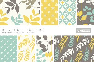 Digital Papers - Leaves - 101