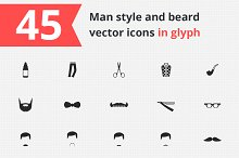 45 Beard and man style icons