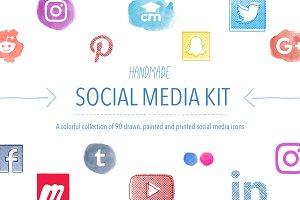 Handmade Social Media Icons