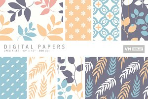 Digital Papers - Leaves - 102