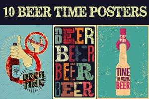 Beer Time vintage posters.