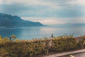 Mountains view in Switzerland
