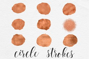 Circle Brush Strokes - Copper