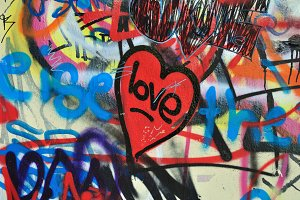 Painted Heart Wall