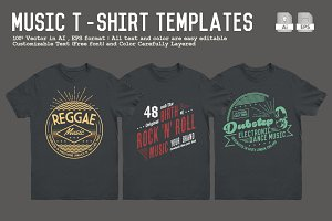 Music T-Shirt Templates