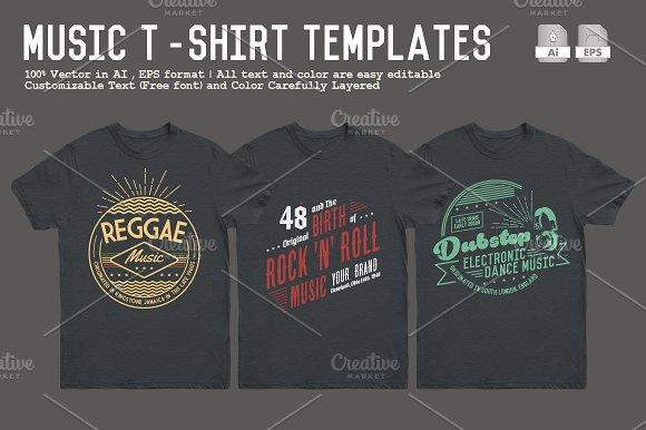 Music T-Shirt Templates