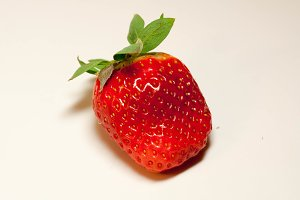 Strawberries on a light background