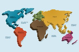 8 Geometric World Maps