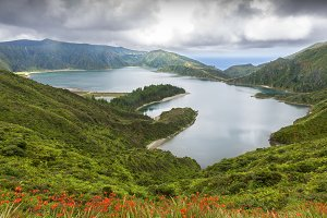 Lagoa do Fogo in Sao Miguel, Azores