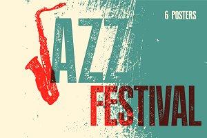 Jazz Festival typographic poster.
