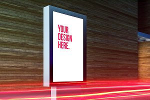 Vertical Billboard Lightbox Mockup