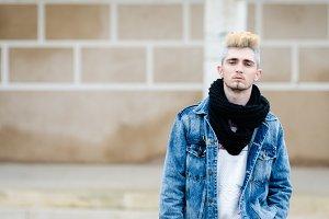 Man wearing bohemian chic