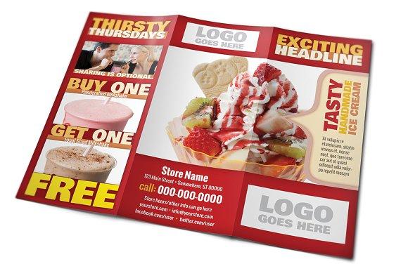 Restaurant tri fold brochure templates