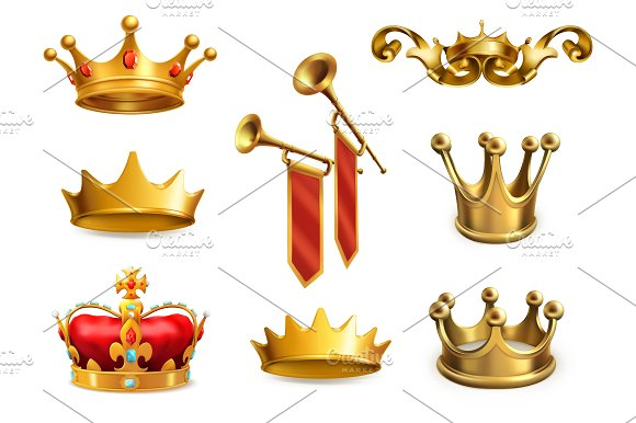 Gold Crown Of The King Vector