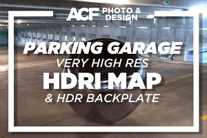 HDRI Map - Parking Garage