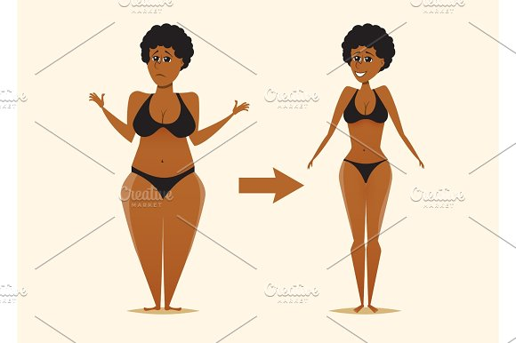 Fat And Skinny Black Woman After The Diet