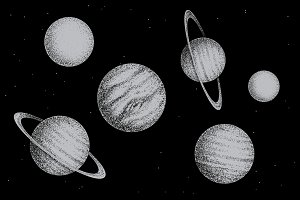 Collection of solar system planets