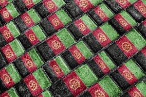 Afghanistan Grunge Flag Pattern