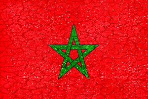 Moroco Grunge Style National Flag