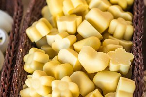White chocolate in basket