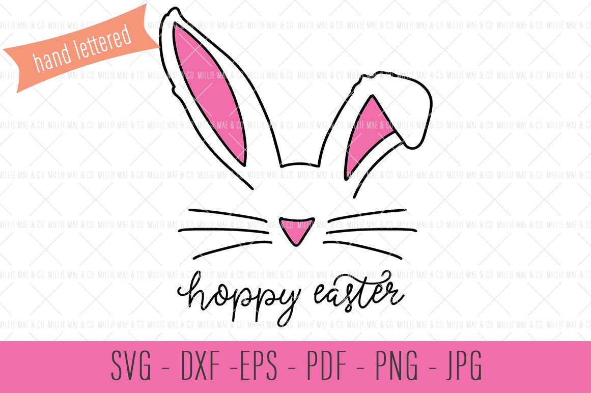 Hoppy Easter Svg Bunny Ears Svg Illustrations Creative Market