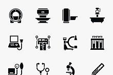Medical diagnostic vector icons set