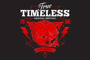 True Timeless | Print with Skull