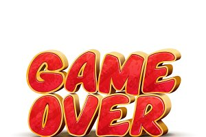 Game over icon for game design
