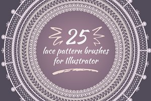 Lace pattern brushes for Illustrator