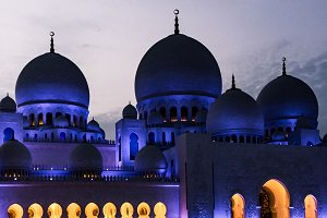 The Grand Mosque at Dusk