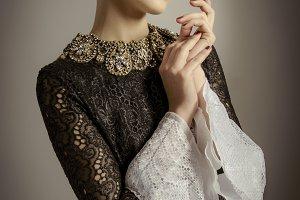 Fashion model  Baroque Style