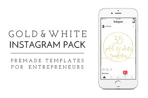 Gold & White Insta Pack