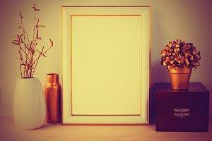 Frame mockup vintage styled