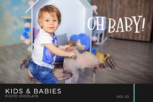 Kids & Babies Photo Overlays Vol 1