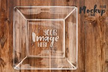 Large Square Glass Plate Mockup