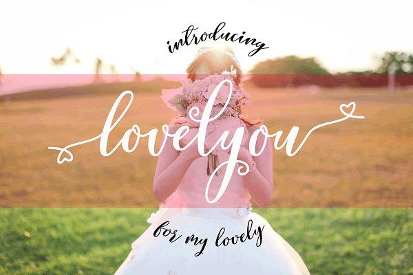 Lovelyou Script Font