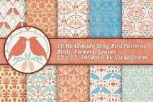 Song Bird Background Patterns