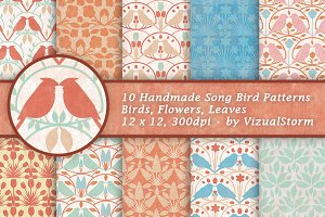 Song Bird Background Patterns